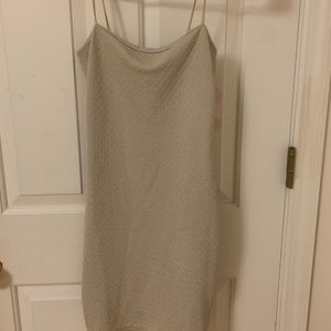 Nasty Gal never worn beige bodycon textured mini